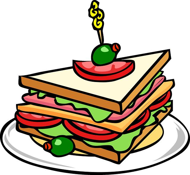 sendvič na talíři