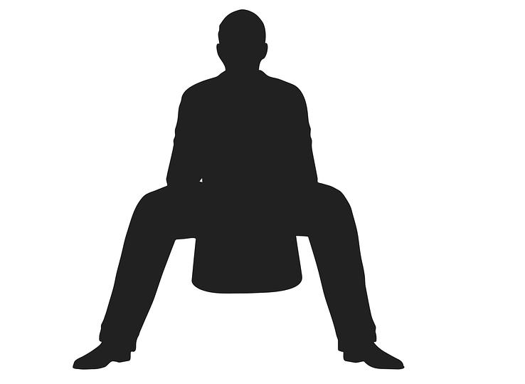 sedící muž